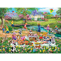 Meadow Picnic 300 Large Piece Jigsaw Puzzle