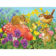 Friendly Mice 500 Piece Jigsaw Puzzle