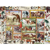 Horses Collage 500 Piece Jigsaw Puzzle