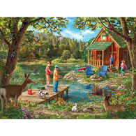 Weekend Cabin 500 Piece Jigsaw Puzzle