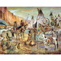 Peaceful Village 300 Large Piece Jigsaw Puzzle
