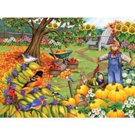Fall Cleanup 500 Piece Jigsaw Puzzle
