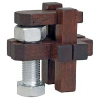 Roof Nut & Bolt Wooden Puzzle