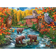 Wise Woodland Dwellers 1000 Piece Jigsaw Puzzle