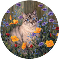 Forget Me Not 300 Large Piece Round Jigsaw Puzzle