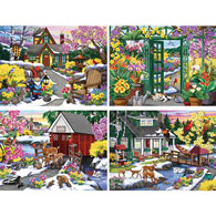 Set of 4: Nancy Wernersbach 1000 Piece Jigsaw Puzzles
