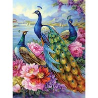 Peacocks 300 Large Piece Jigsaw Puzzle
