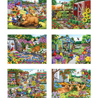 Set of 6: Nancy Wernersbach 500 Piece Jigsaw Puzzles