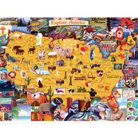 Explore America 1500 Piece Giant Jigsaw Puzzle