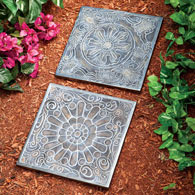 Rosette Decorative Garden Stones