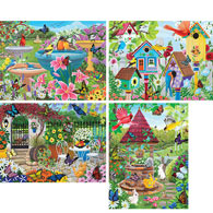 Set of 4: Kathy Bambeck 500 Piece Jigsaw Puzzles