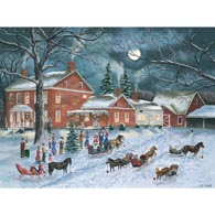 The Carolers Gather 500 Piece Jigsaw Puzzle