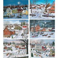 Set of 6: Bob Fair 500 Piece Jigsaw Puzzles