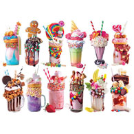Mini Milkshake 500 Piece Shaped Puzzles