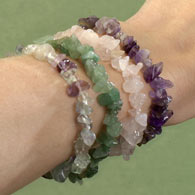 Four Gemstone Bracelets Set