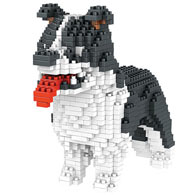 Dog Breed 3-D Block Puzzle- Border Collie