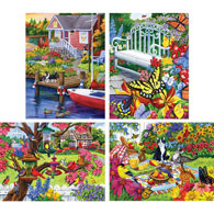 Set Of 4: Nancy Wernersbach 300 Large Piece Jigsaw Puzzles