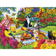 Backyard Picnic 500 Piece Jigsaw Puzzle