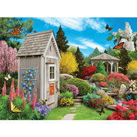 Out In The Garden 300 Large Piece Jigsaw Puzzle