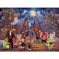 Haunted Halloween Village 300 Large Piece Jigsaw Puzzle