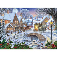 Winter Village Stream 1500 Piece Giant Jigsaw Puzzle