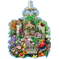 Birdcage Garden 750 Piece Shaped Jigsaw Puzzle