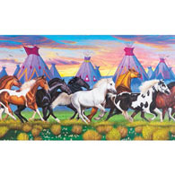 Indian Ponies 1000 Piece Jigsaw Puzzle