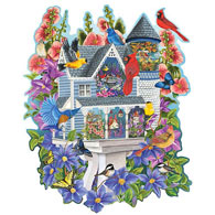 Victorian Bird House 300 Large Piece Shaped Jigsaw Puzzle