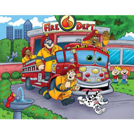 Fire Truck 200 Large Piece Jigsaw Puzzle