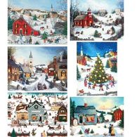 Set of 6: Linda Nelson 300 Large Piece Jigsaw Puzzles