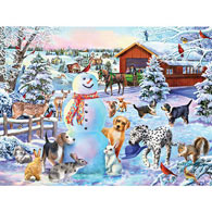 Playing In The Snow 500 Piece Jigsaw Puzzle