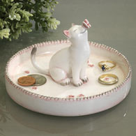 Ceramic Cat Jewelry Plate