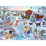 Playing In The Snow 1000 Piece Jigsaw Puzzle