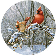 Snow Fire 300 Large Piece Round Jigsaw Puzzle