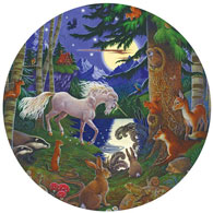 Unicorn Moon 1000 Piece Round Jigsaw Puzzle
