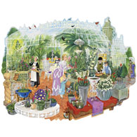 Gathering At The Greenhouse 750 Piece Jigsaw Puzzle