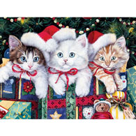 Meowy Christmas 300 Large Piece Jigsaw Puzzle
