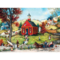 Gathering At School 500 Piece Jigsaw Puzzle