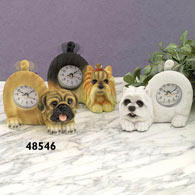 Pug Tail Wagging Clock