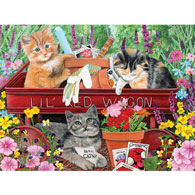 Lil' Red Wagon 300 Large Piece Jigsaw Puzzle