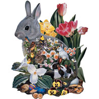 Spring Has Sprung 300 Large Piece Shaped Jigsaw Puzzle