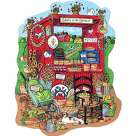 Summer Farm Stand 500 Piece Shaped Jigsaw Puzzle