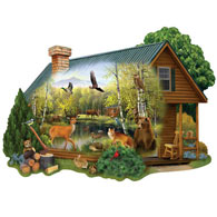 Cabin In The Wild 750 Piece Jigsaw Puzzle