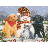 Snowboy With Little Friends 1000 Piece Glitter Effects Jigsaw Puzzle