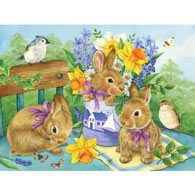 Bunny Bouquet 300 Large Piece Jigsaw Puzzle