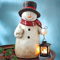 Ceramic Snowman Tea Light Holder
