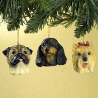 Fawn Pug Christmas Ornaments