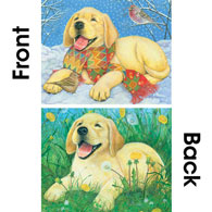 Happy Puppy 500 Piece Double Sided Jigsaw Puzzle