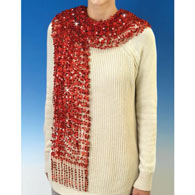 Sequined Scarf- Red