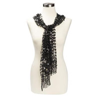 Sequined Scarf- Black